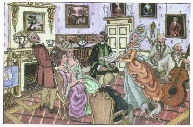 Быт Европы века Новая история Реферат доклад сообщение  Салон в эпоху Просвещения